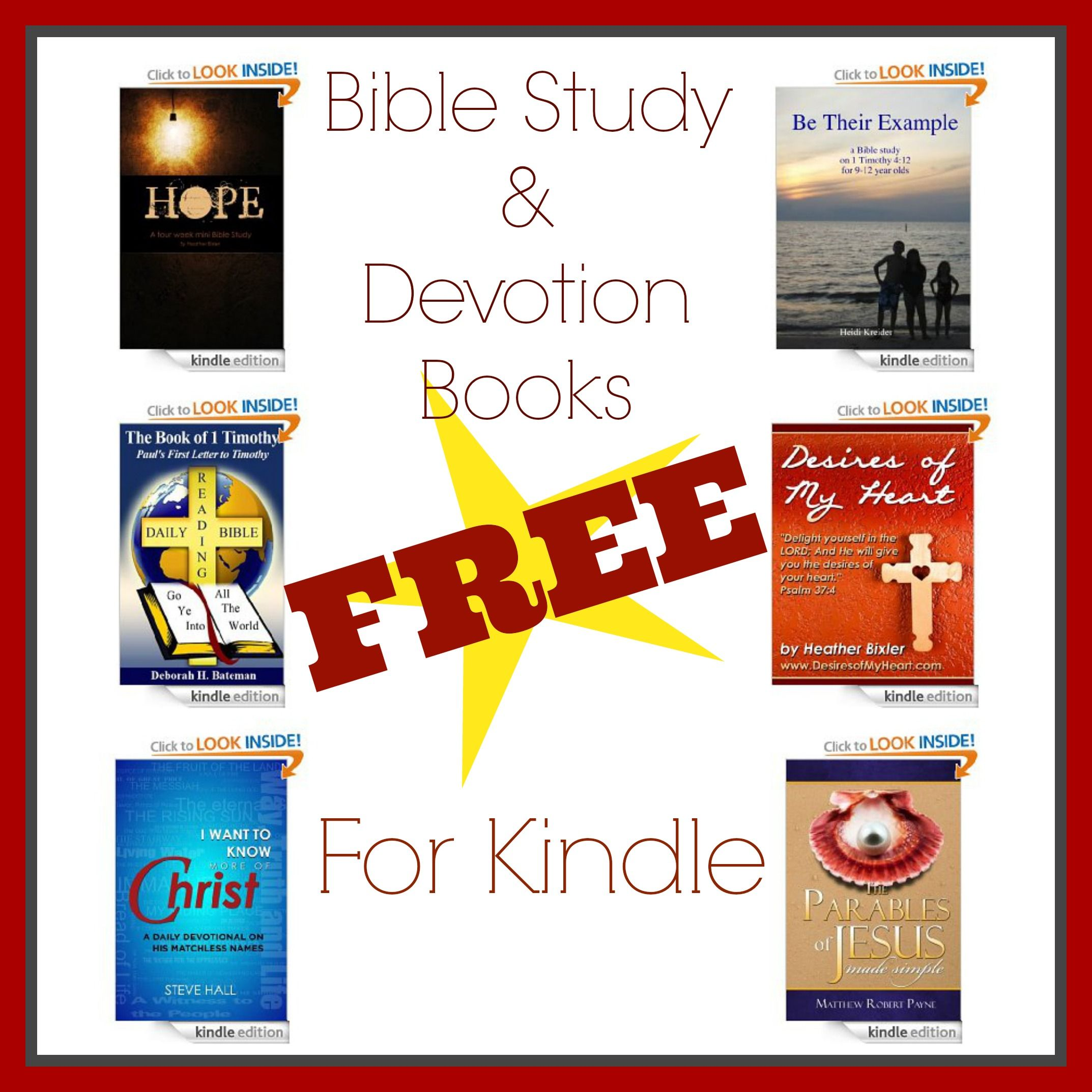 FREE Bible Study and Devotion Books for Kindle Free