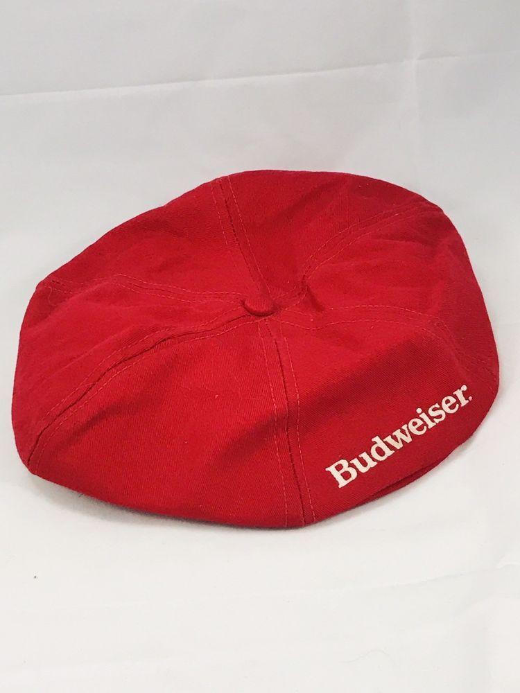RARE Vintage Budweiser Hat Cap Golf Paperboy Beer SnapBack Anheuser-Busch  80s  9ad0596491e6