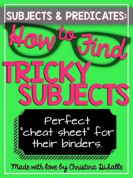 Subjects & Predicates: Finding Tricky Subjects: TIPS