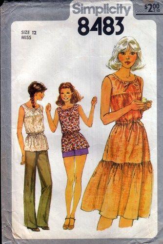 4b5ec904b8de3 Simplicity 8483 Misses  Pullover Dress or Top