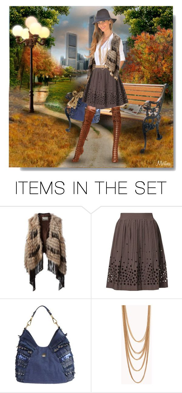 """Fall Look In The City"" by thewondersoffashion ❤ liked on Polyvore featuring art, blogger and dolls"