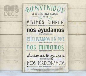 Resultado de imagen para carteles vintage para cocina churis pinterest frases home d cor - Carteles de cocina ...