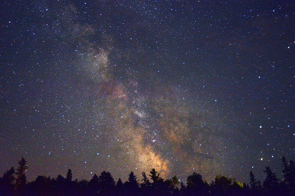 Stjärnhimmel.