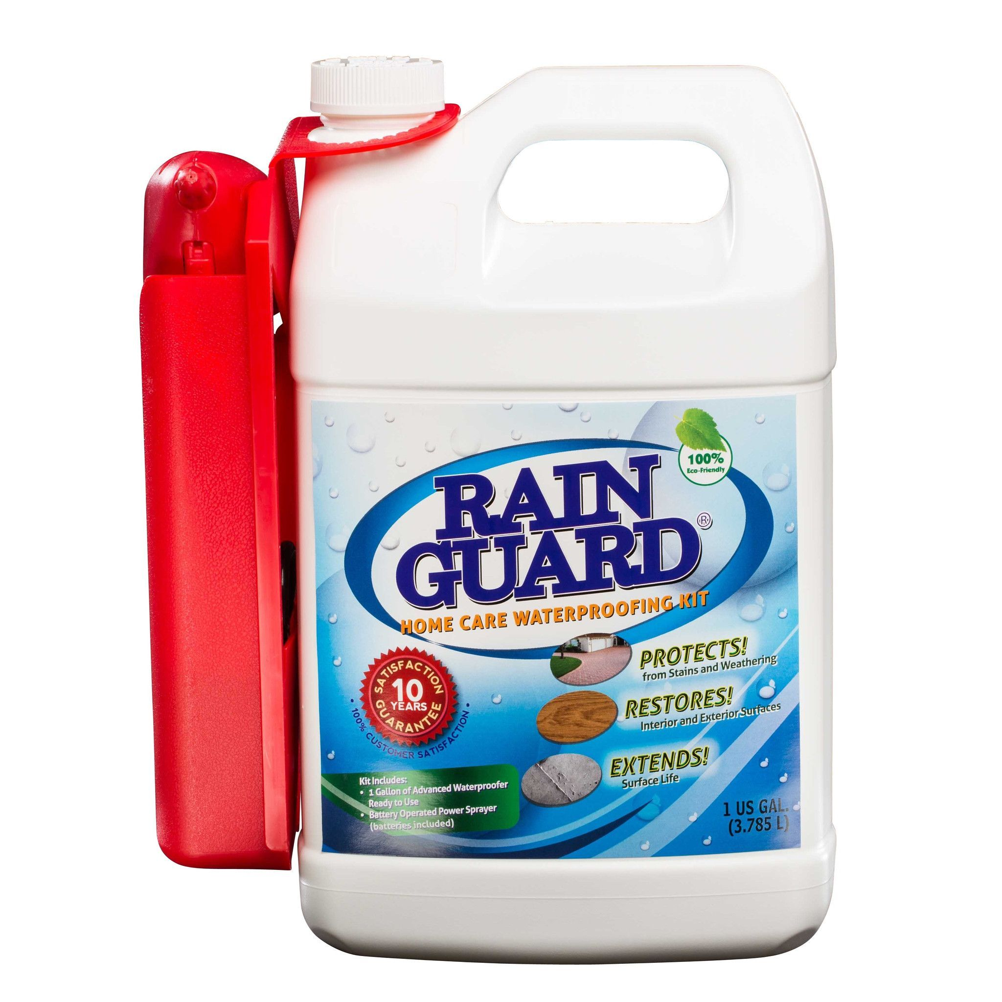 Rainguard Advanced Waterproofer Home Care Kit 1 Gallon W Sprayer