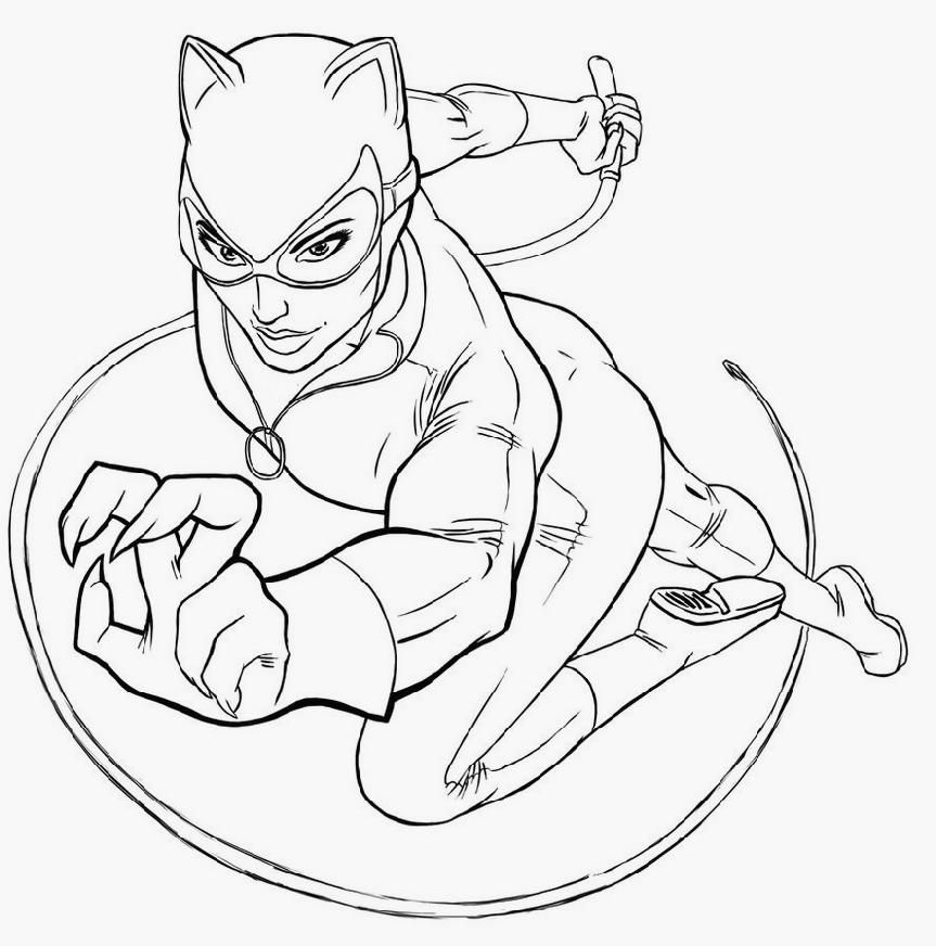 Superhero Coloring Pages For Kids Free Pinteres