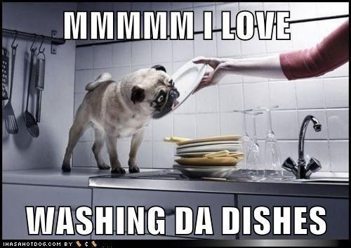 ik hou van helpen met de afwas!