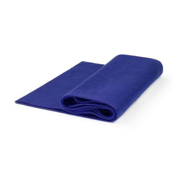 Premium Wool Blend Felt By The Yard Royal Blue 72 Wide X 1