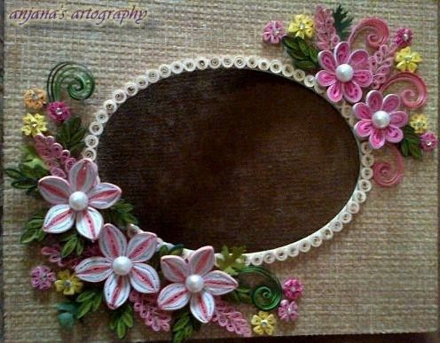 Quilling flowers cards diy designs patterns quilled paper art origami flower frame cute crafts also best frames images cadre photo do rh pinterest