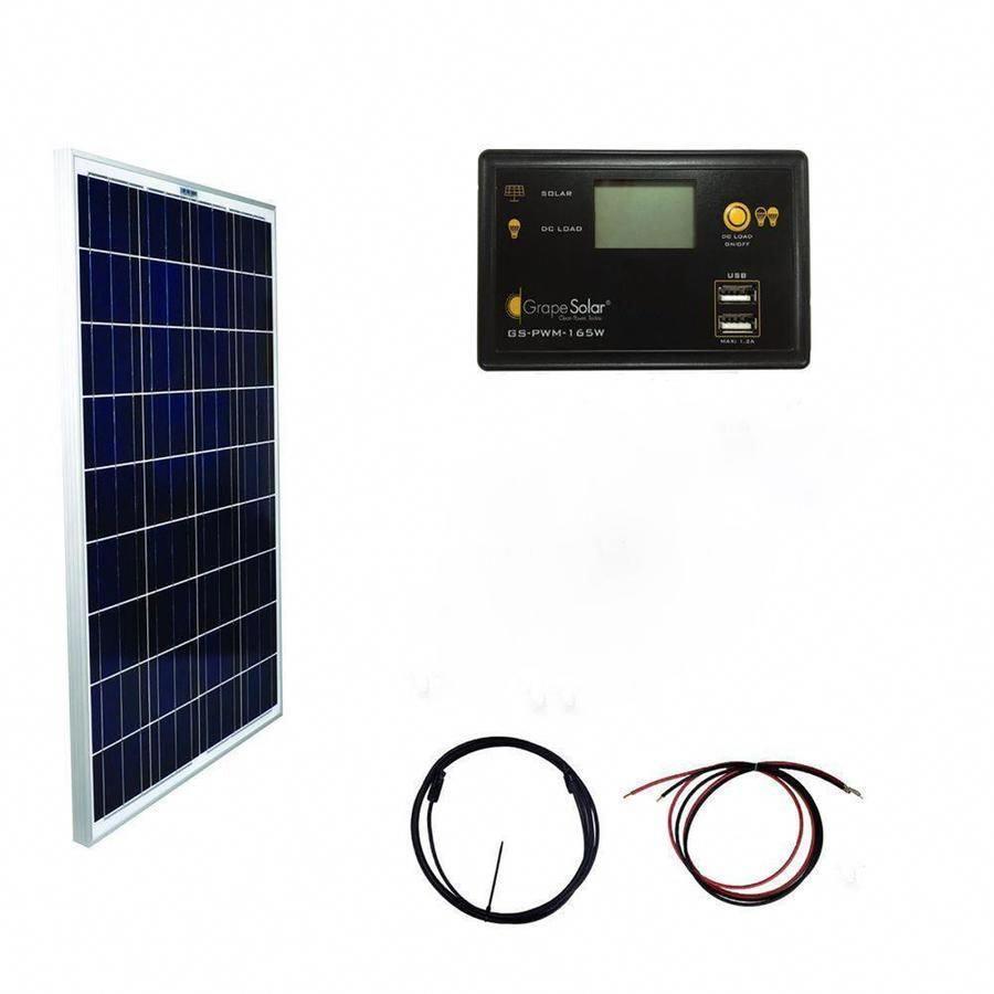 Grape Solar Off Grid Power Kits 12 Volt Portable Solar Power Kit Gs 100 Basic Solarpanels Solarenergy Solarp In 2020 Solar Power Kits Solar Energy Panels Solar Panels