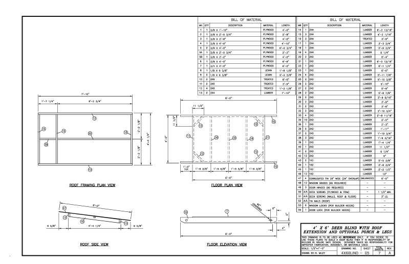 4x6 deer stand plans related keywords suggestions 4x6
