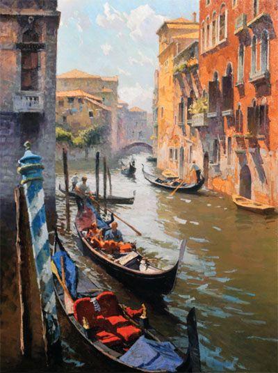 Calvin Liang Venice Canal  Venezia  Italy painting Venice painting e Venice