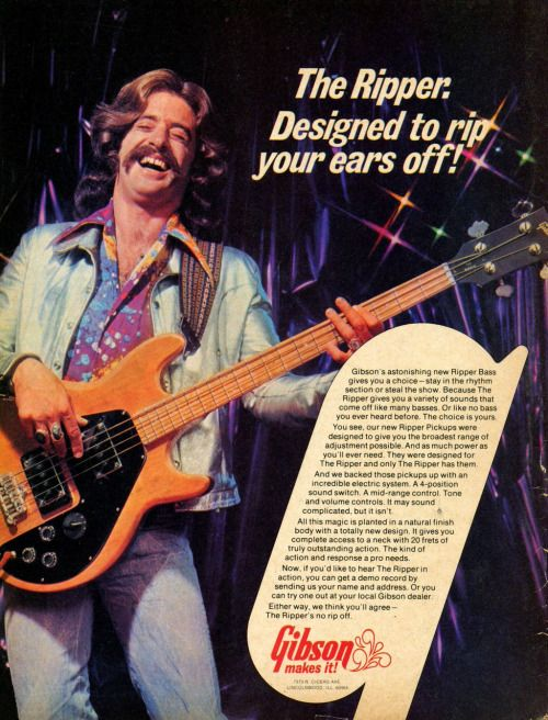 Advertising Pics, Gibson Ripper Bass, 1973. Source:...