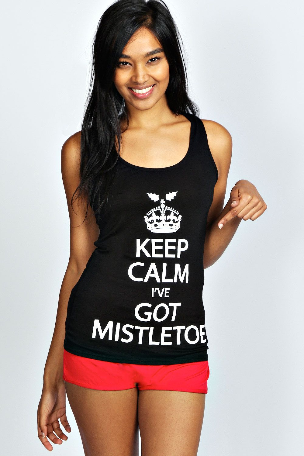 Keep Calm Mistletoe Shorts and Vest Set >> http//www