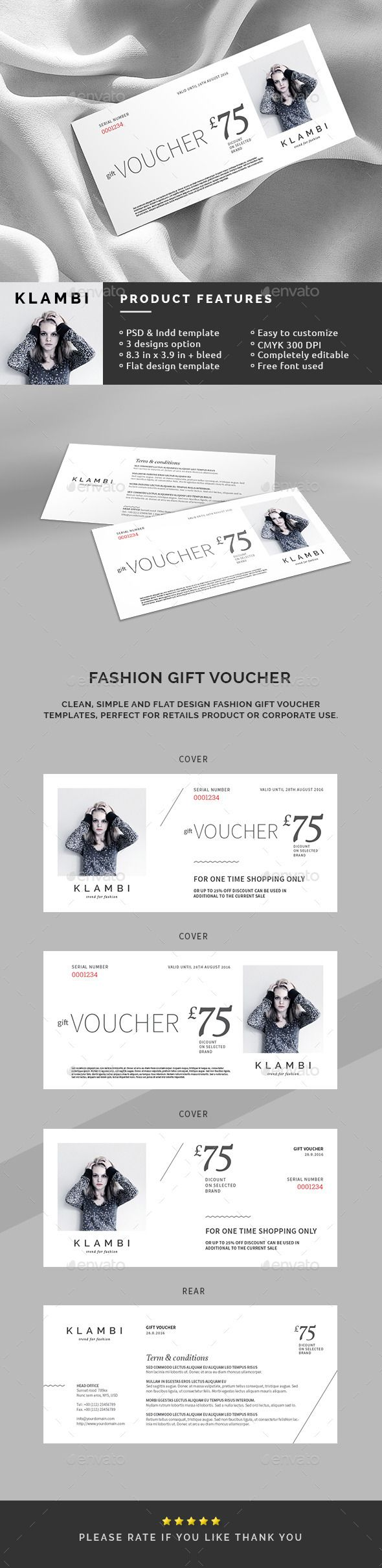 Fashion gift voucher template template cards and gift fashion gift voucher template colourmoves Image collections