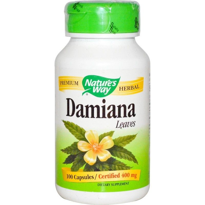 Nature's Way, Damiana, Leaves, 400 mg, 100 Capsules (With