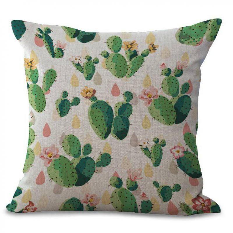 2017 Modern Minimalist Green Tropical Plants Pillow Home Decor