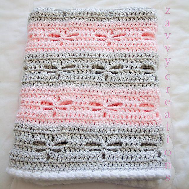 Ravelry: zavvy\'s Dragonfly Baby Blanket | Crochet patterns ...