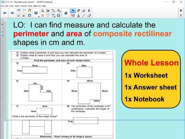 Area of composite shapes worksheet ks2