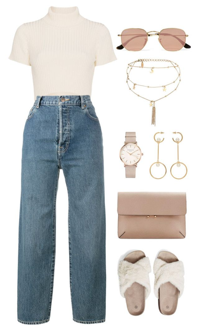 """Untitled #354"" by m0dernlove ❤ liked on Polyvore featuring Staud, Vetements, MANGO, Ray-Ban, ROSEFIELD, Chloé and Ettika"