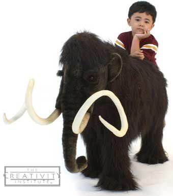 Hansa 5316 Wooly Mammoth Ride-On Plush Stuffed Animal