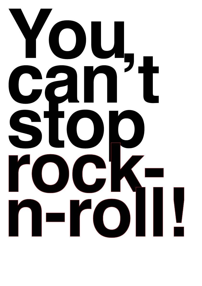 Rock and roll forever quotes quotesgram - Items Similar To Rock N Roll Poster Cant Stop