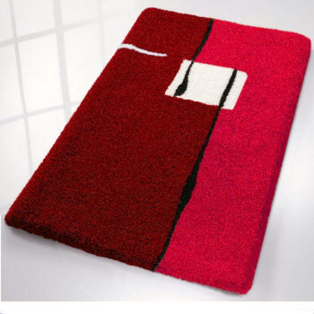 Malaga Modern Colorful Non Slip Bath Rugs With Regard To Red Bath Rugs Red Bath Rugs For Residence Red Bath Rug Red Bathroom Rugs Rugs