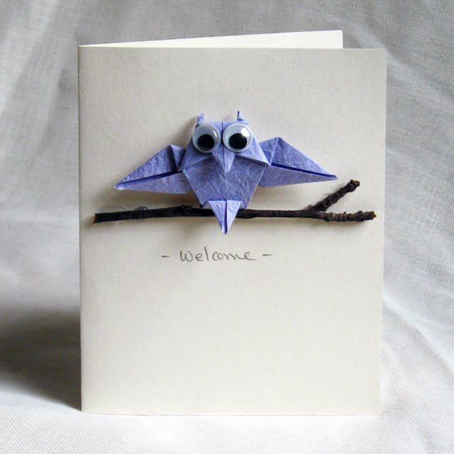Смешные, сделать открытку из оригами