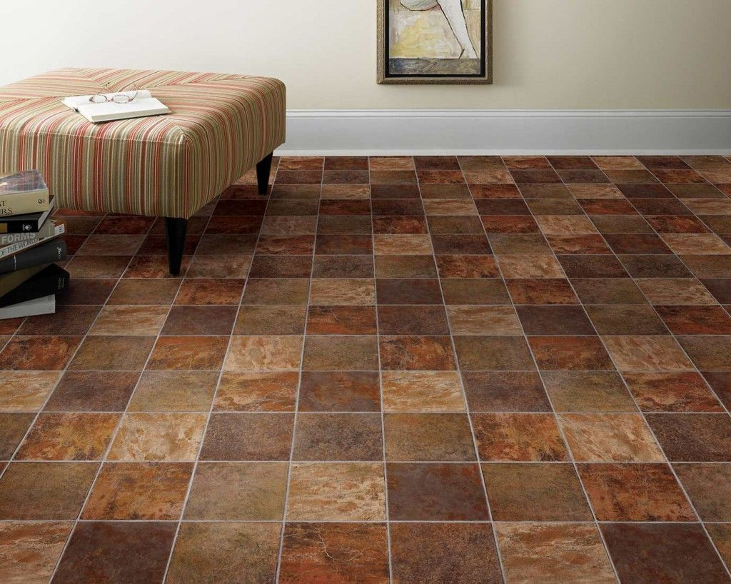 Rustic Durable Vinyl Tile Flooring Available at Express