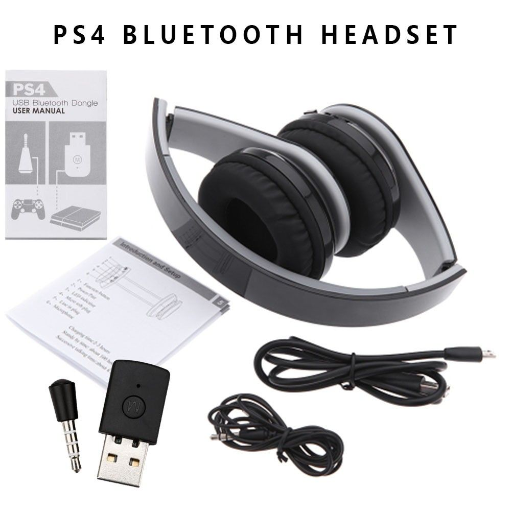 Bluetooth 4 0 Headphone A2dp Wireless Stereo Headset With Bluetooth Dongle Usb Adapter For Ps4 Game Headphone Intelligent Phone Af Headphones Bluetooth Dongle