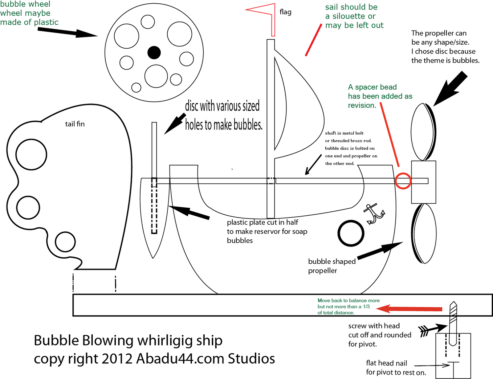 Free Patterns And Ideas Bubble Blowing Whirligig Ship