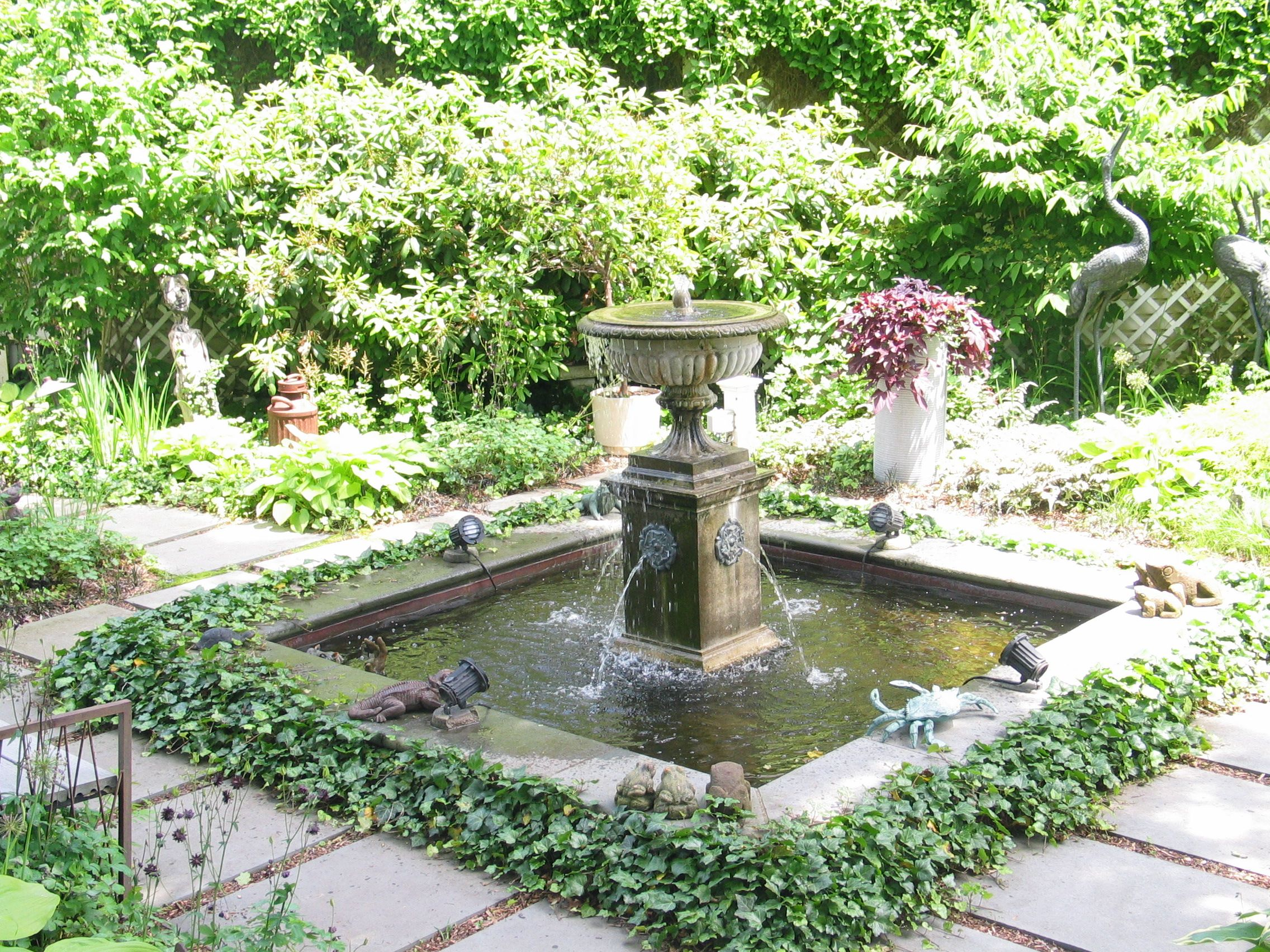 A Victorian Fountain Met The Visitor At This Courtyard