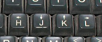 Here is why vim uses the hjkl keys as arrow keys