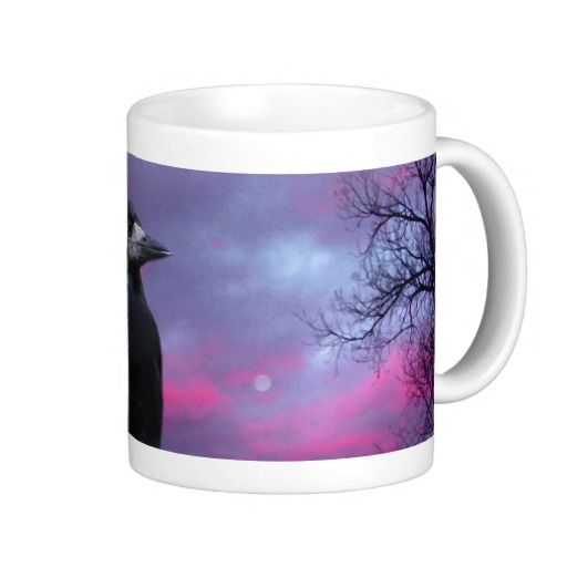 Gifts For Wedding Night: Ravens On A Stormy Night Mugs