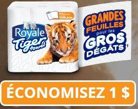 Coupons et Circulaires: 1$ sur ROYALE TIGER + Une chance de gagner un Voya...