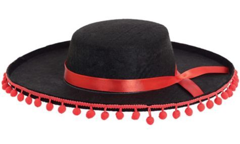 Red & Black Spanish Hat - Party City