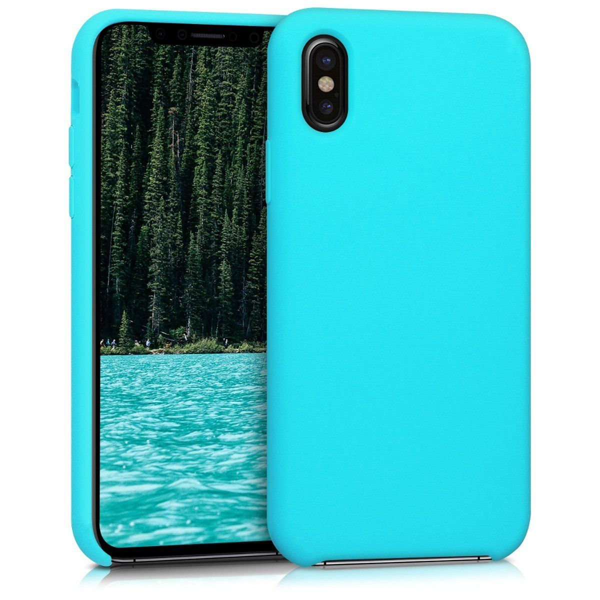 kwmobile silicone cover case for Apple iPhone X - TPU Case with ...
