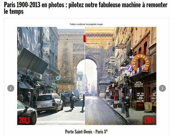 Paris 1900-2013 en photos // http://www.rue89.com/rue89-culture/2013/03/24/paris-1914-2013-en-photos-grimpez-dans-notre-fabuleuse-machine-remonter-le