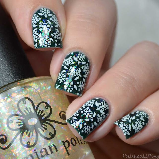 Sea Turtles Firecracker Lacquer Ocean\'s Deep | Polished Lifting Nail ...
