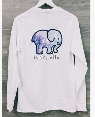 008c90b5abd Ivory Ella Women Print Animal Elephant T Shirt Loose Long Sleeve Harajuku  Tops - Just-Trendy.com - 8