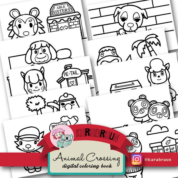 Animal Crossing Theme Coloring Book (CBACNL001