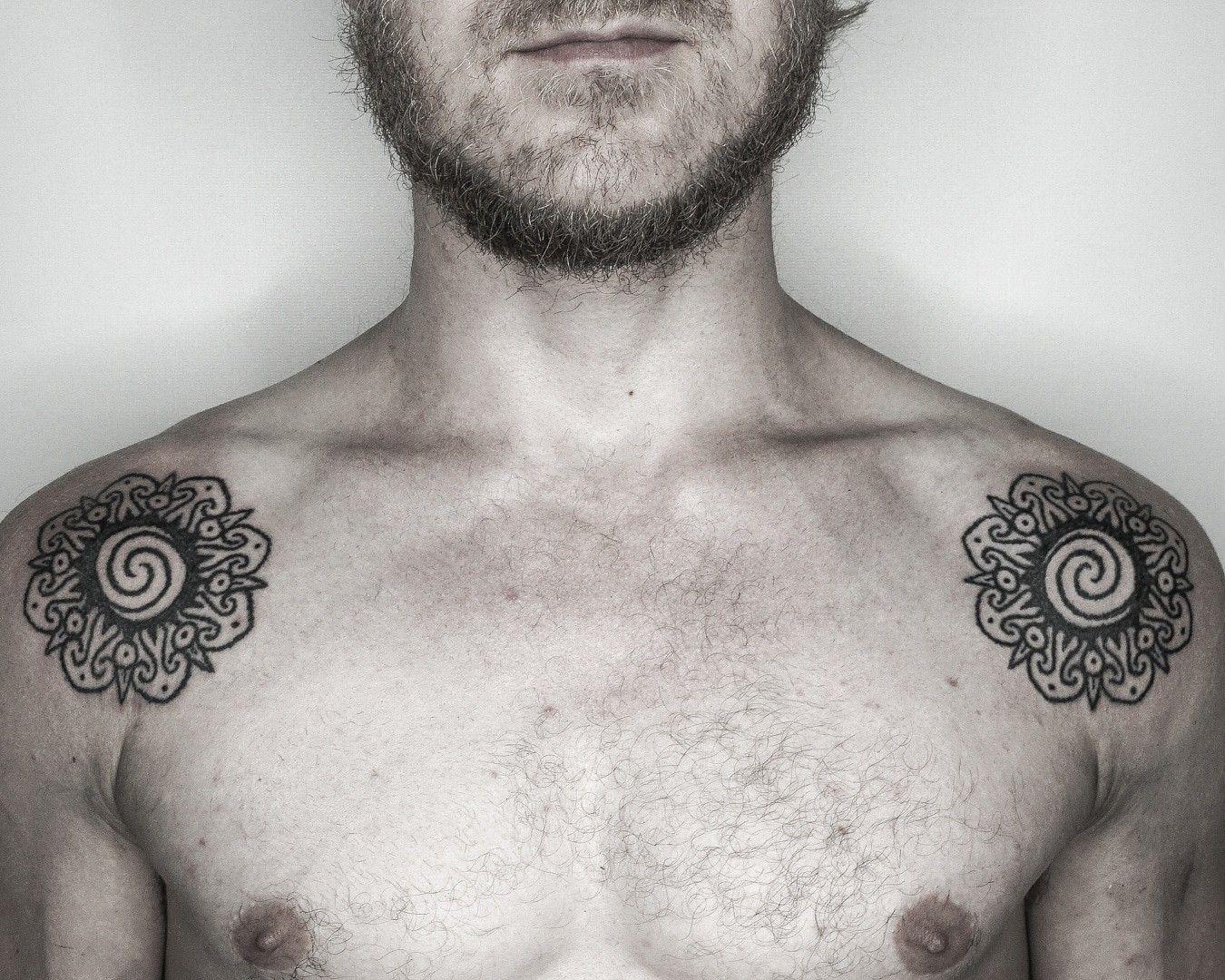Borneo Rosette Tattoos Skin Art Polynesian Tattoo