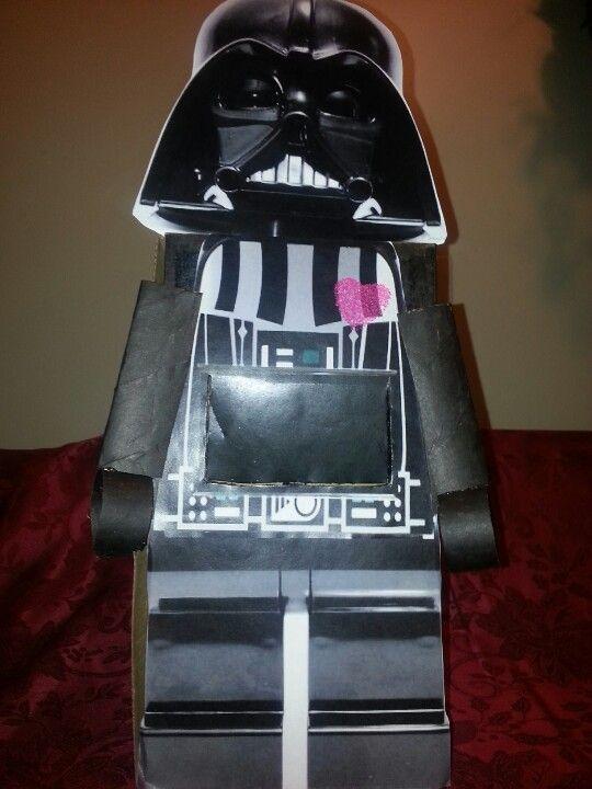Lego Darth Vader Valentines box