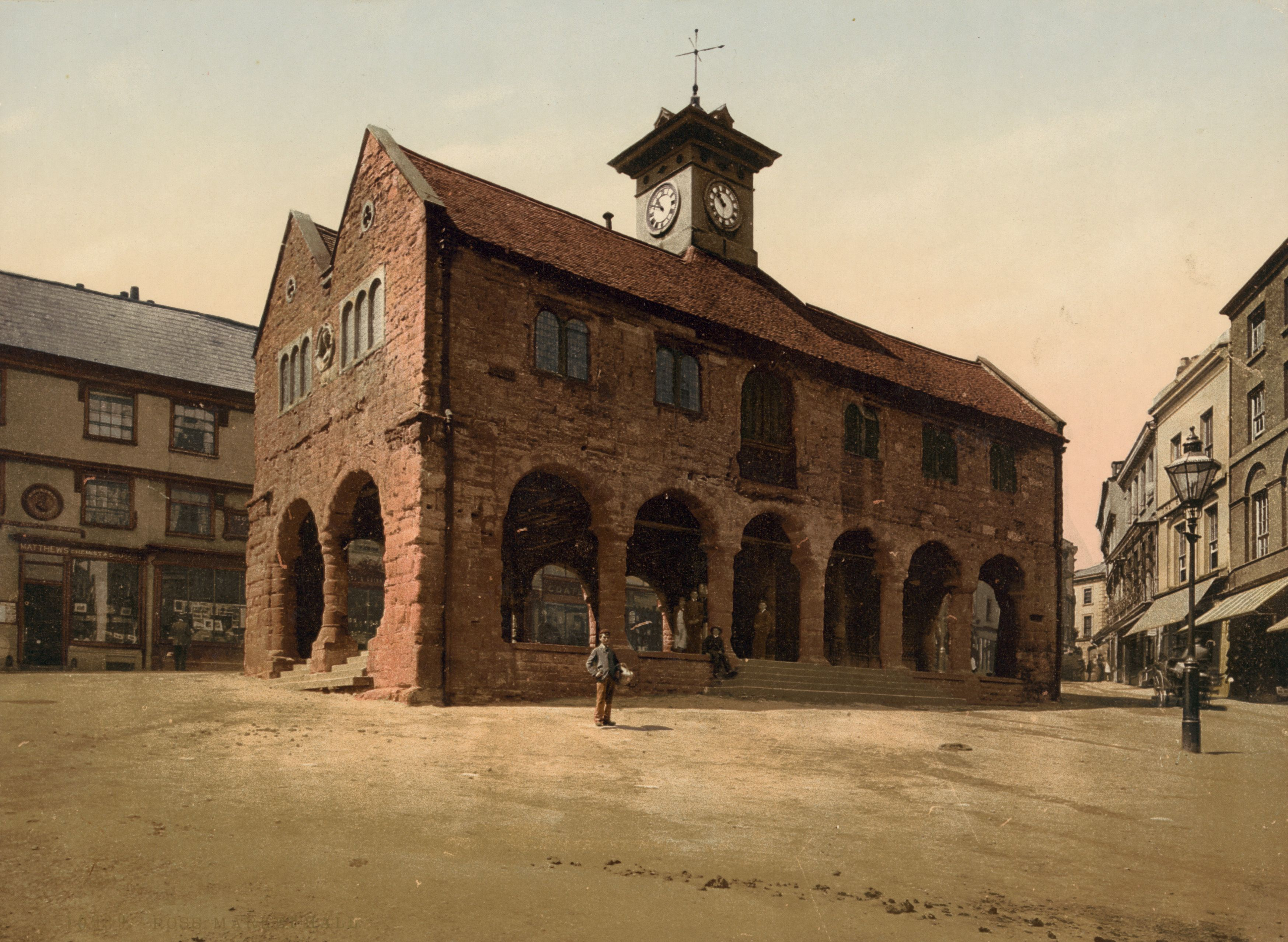Market Hall Ross On Wye Herefordshire England Ca 1890 First Color Photograph Ross On Wye Herefordshire