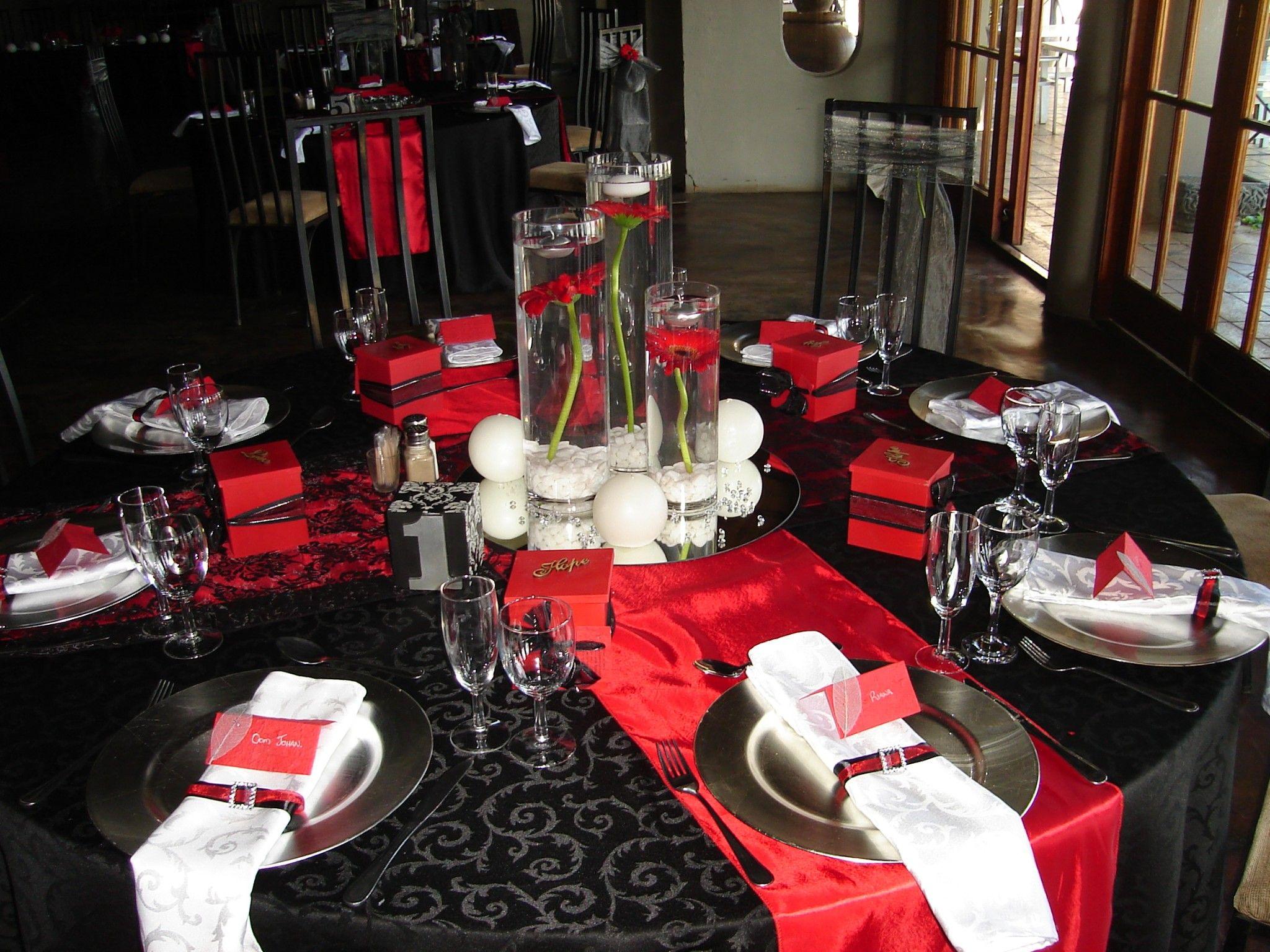 Black, Red, Silver Wedding