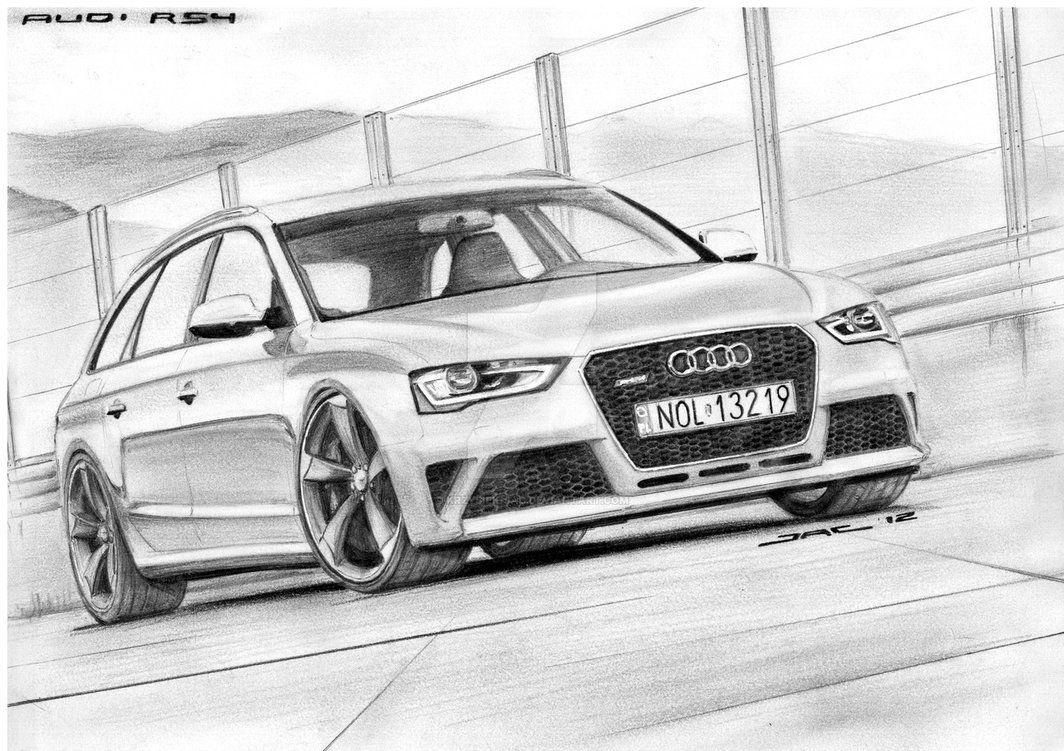 Audi Rs4 By Krzysiek Jac Car Drawings Audi Audi Rs4