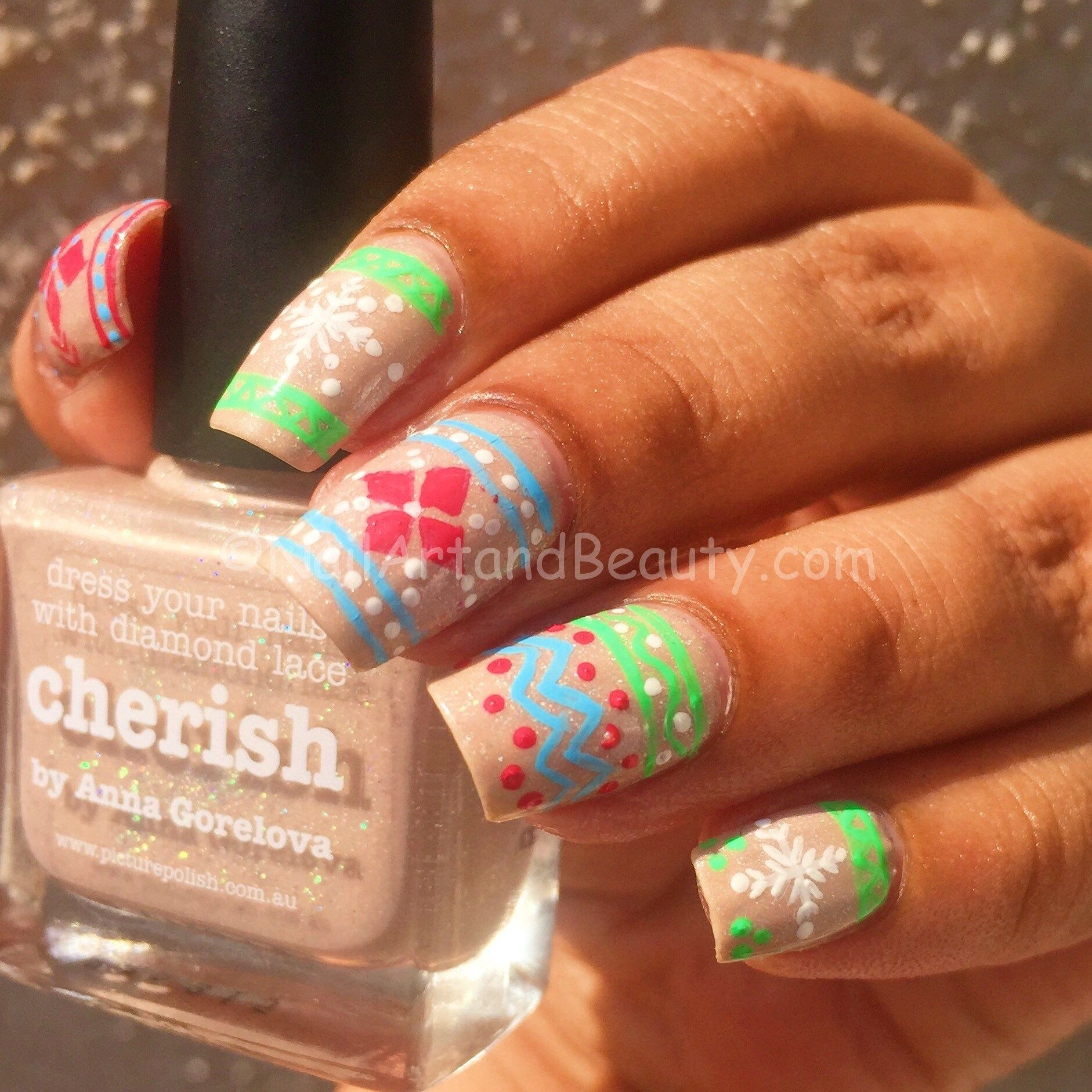 Candy Colored Sweater Mani Auf Bild Polish Cherish #Candy #Cherish
