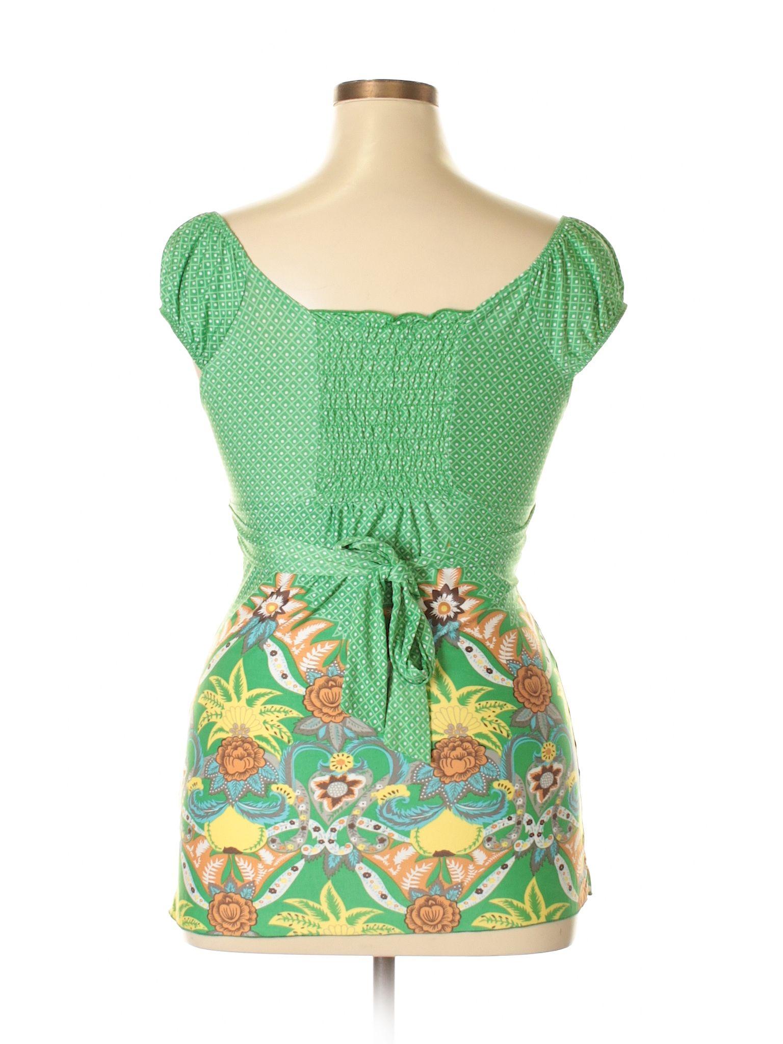 Papaya Sleeveless Blouse Size 1200 Green Womens Tops  $699