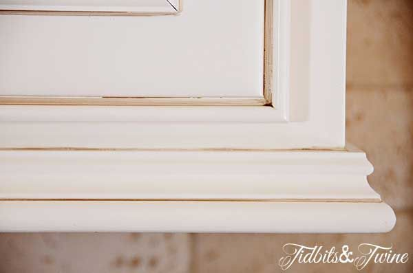 kitchen cabinet bottom trim | ... Kitchen Cabinet Trim Updating 80s Builder  Grade Kitchen