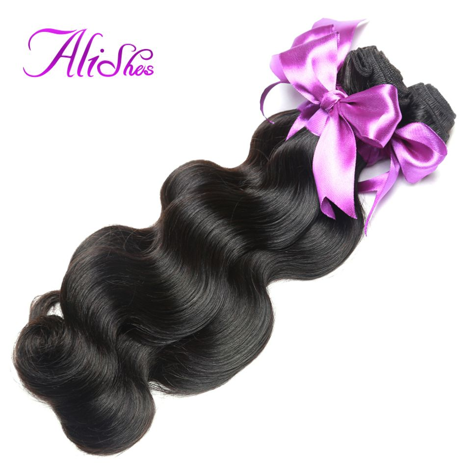 Alishes hair peruvian body wave human hair bundles inch