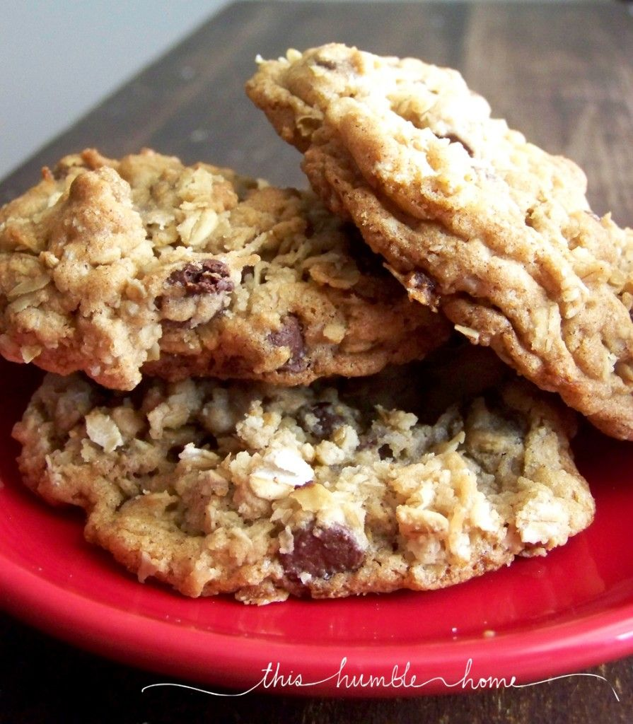 Cowboy cookies...chocolate chips, coconut, oatmeal && pecans--ohhh yum.